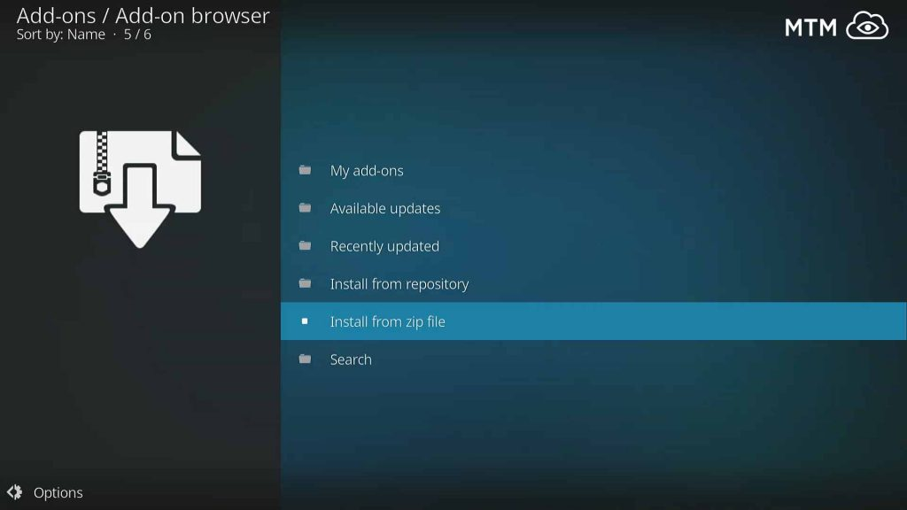 Install From Zip File within Kodi Add-ons Browser for Griffin Repo,
