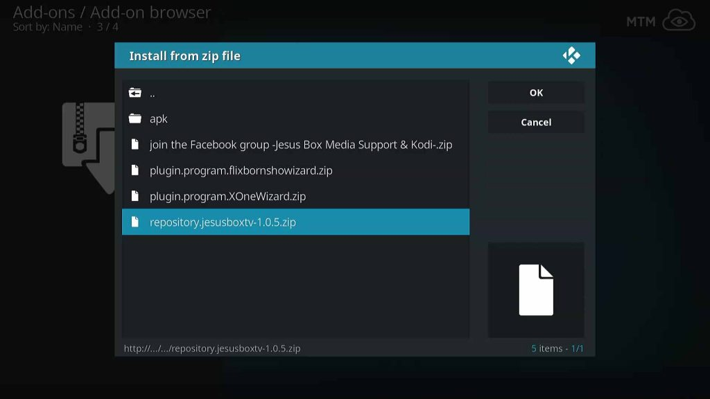 Install From the Latest JesusBoxTV Repository Zip File