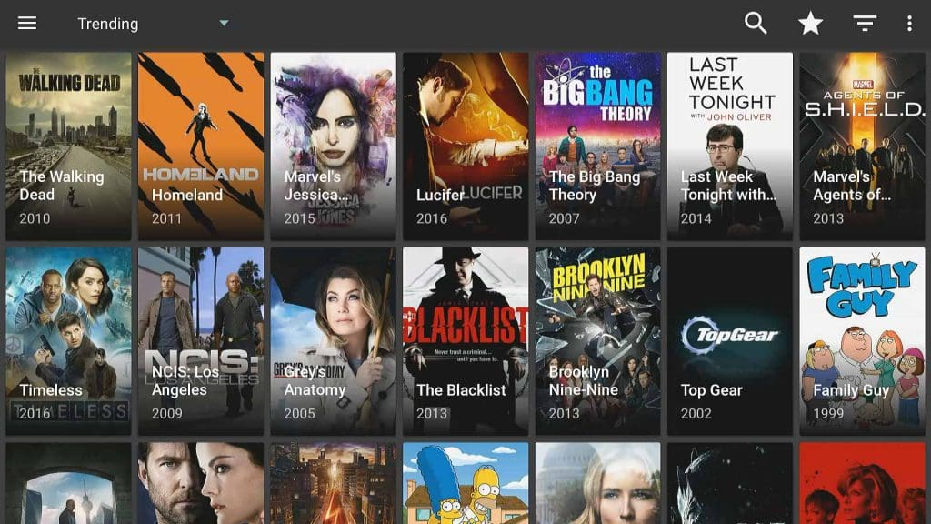 Terrarium TV Ad-Free Trending Page