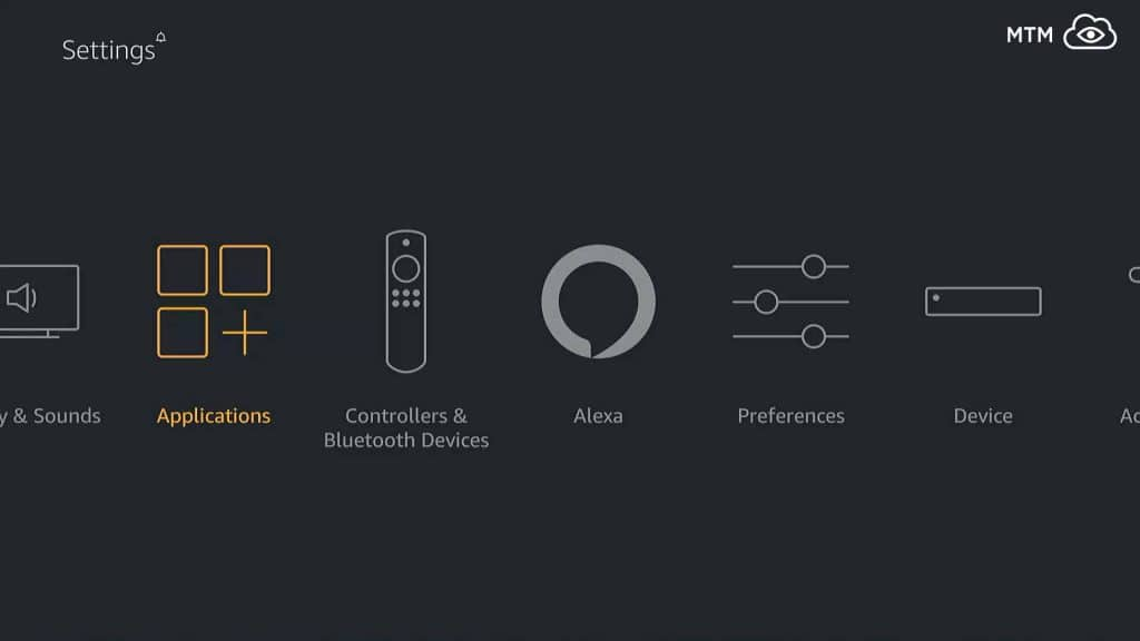 Fire TV Applications Settings to get YouTube on FireStick