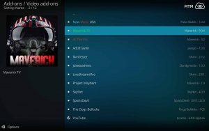 Maverick TV Repository Video TV Addons