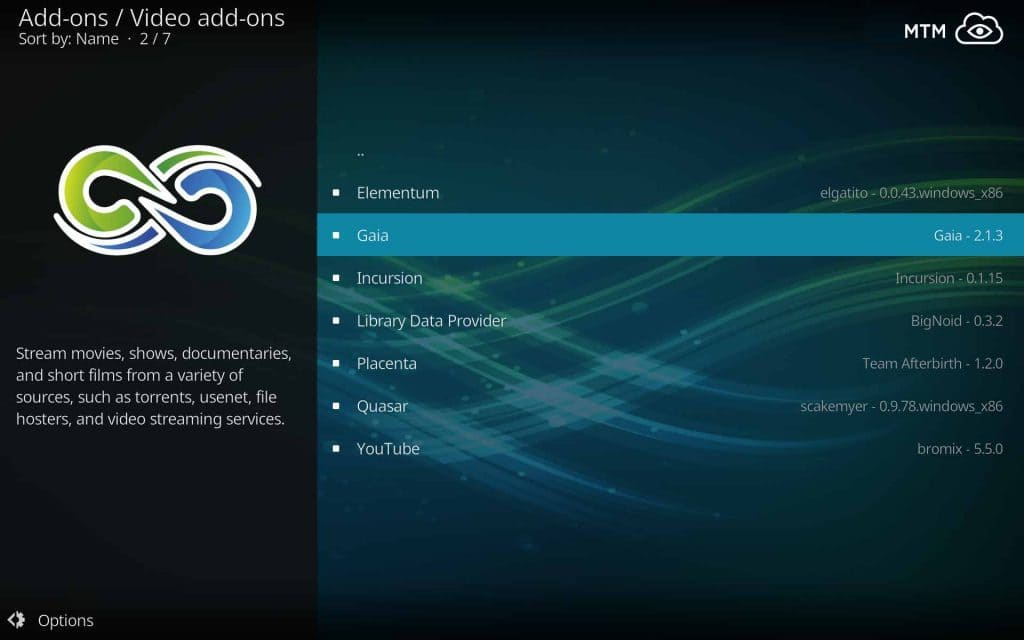 You'll Find the Gaia Kodi Addon in the Video Add-ons Directory of the Gaia Repo