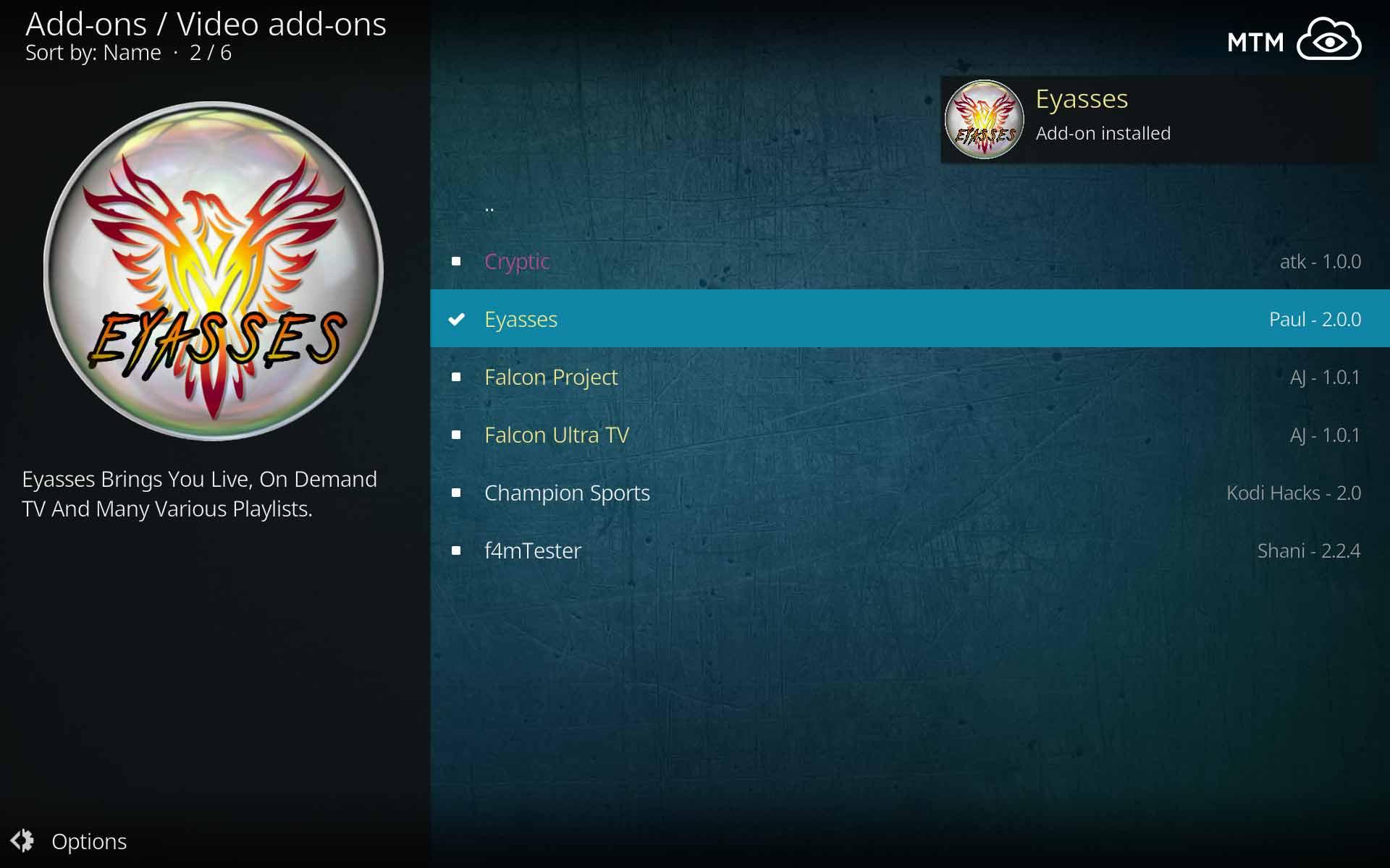 Install Eyasses Kodi Addon (Paul's World Alternative)   MTM