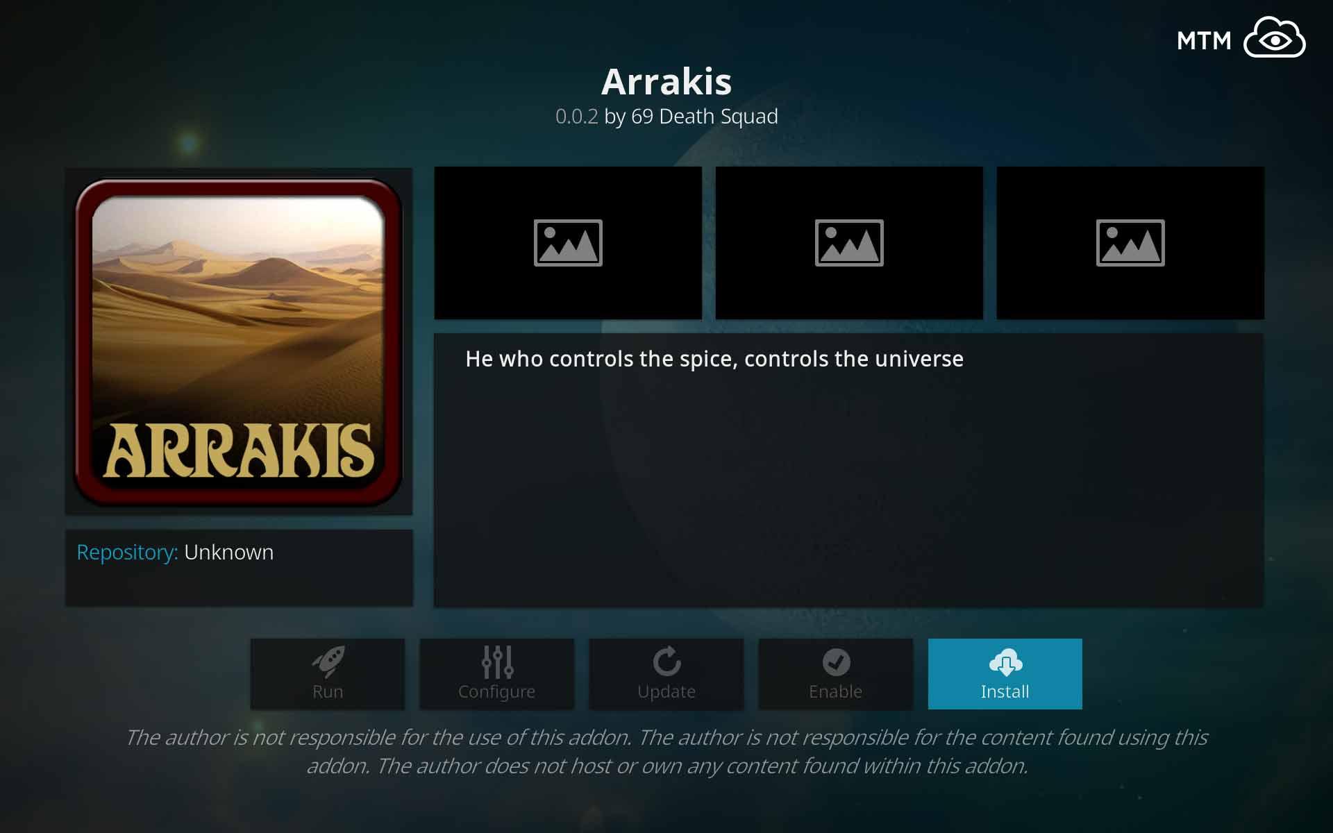 How to Install Arrakis Kodi All-in-One Addon from Blamo Repo