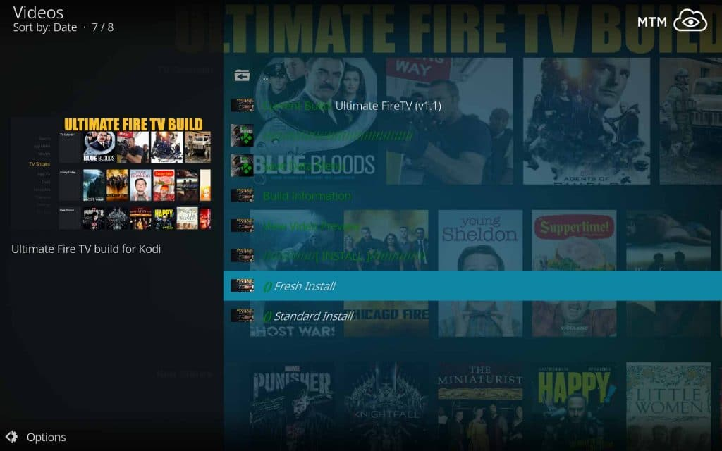 Fresh Install Ultimate FireTV Build to Clean Reset Kodi 18