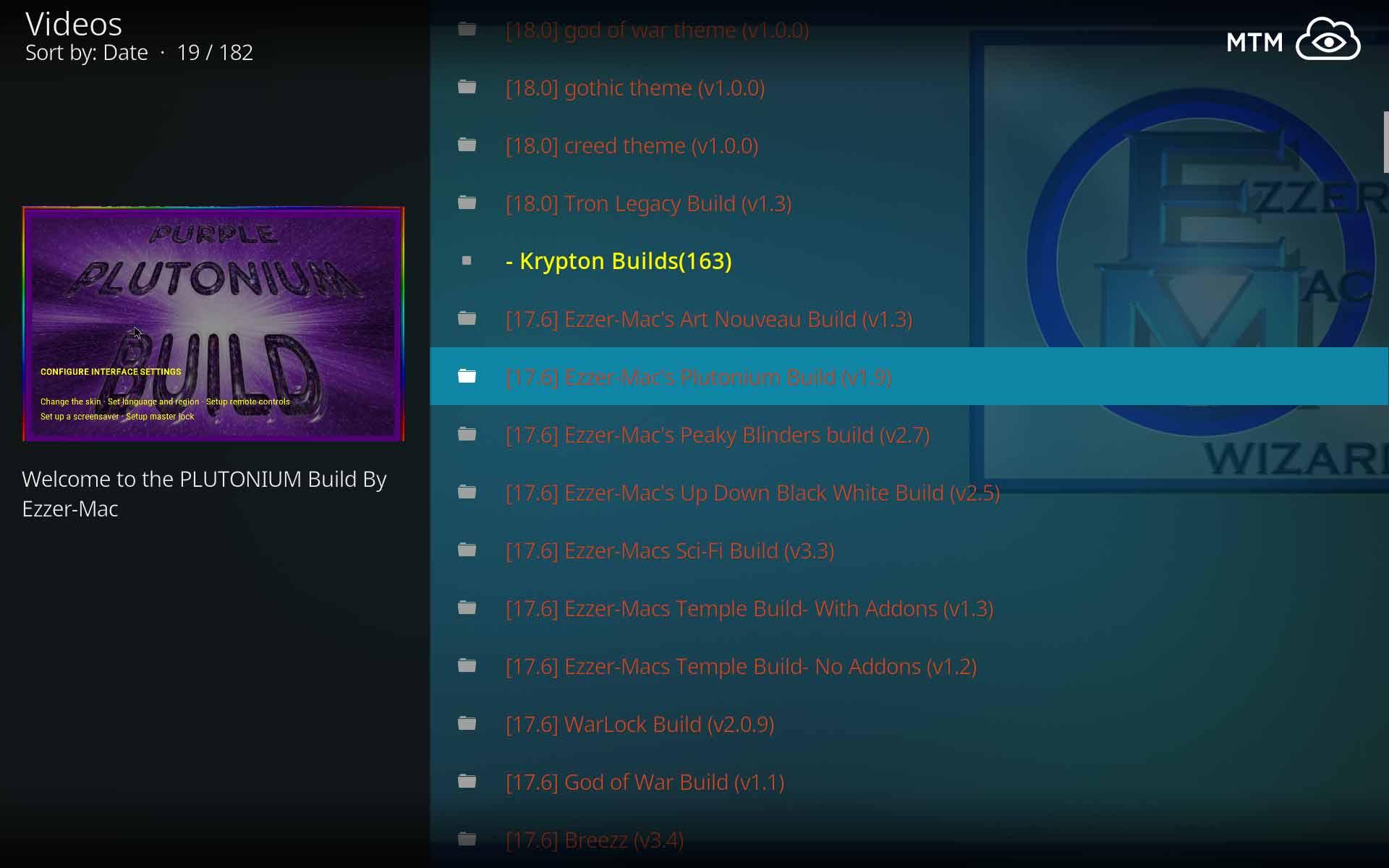 How to Install Plutonium Kodi Build from EzzerMac Builds Wizard
