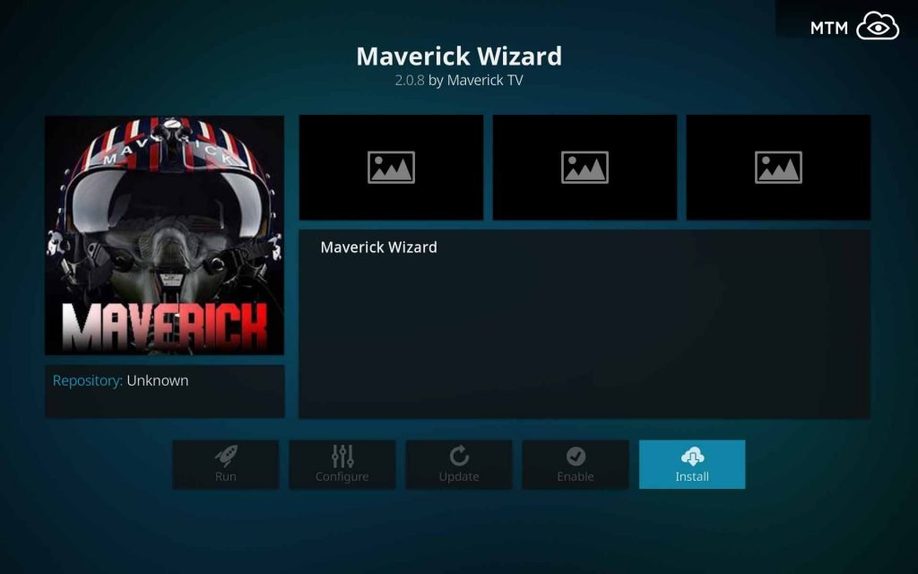 Click Install Button for Maverick Wizard