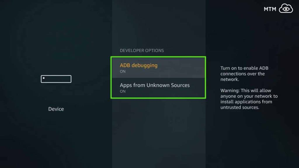 amazon considers mobdro apk an app from unknown sources on firestick
