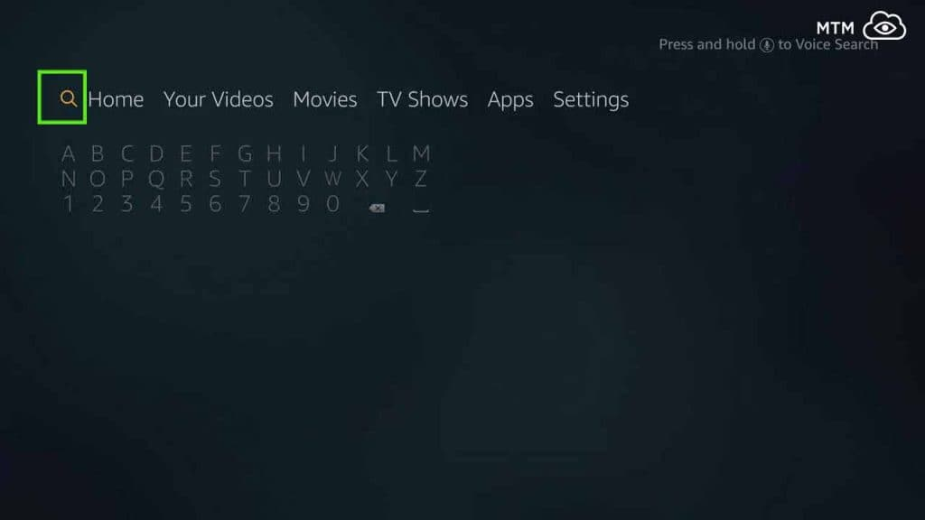 search for downloader to download and install cinema apk on firestick