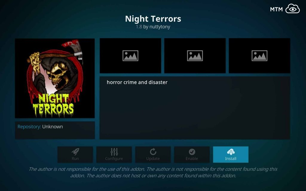 install night terrors kodi addon for great horror movies