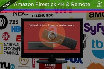 New Amazon Firestick 4K with Fire TV Stick Remote Volume & Power Control header image