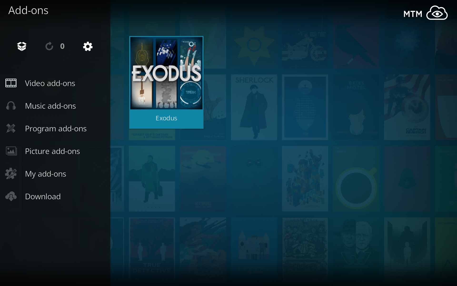 kodi says exodus error