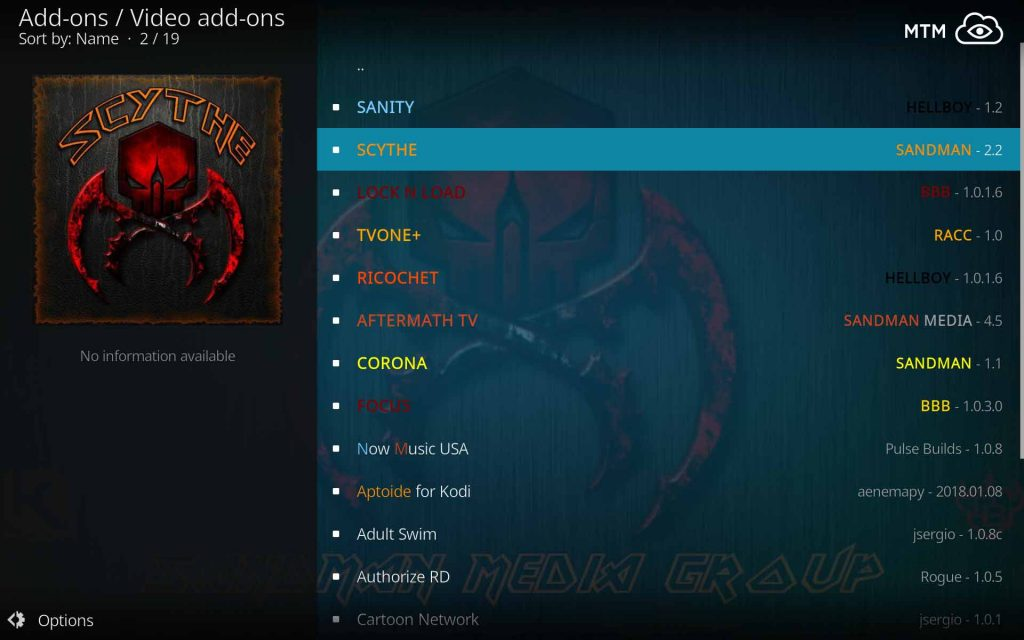 install scythe for halloween movies and frightening, scary horror movies