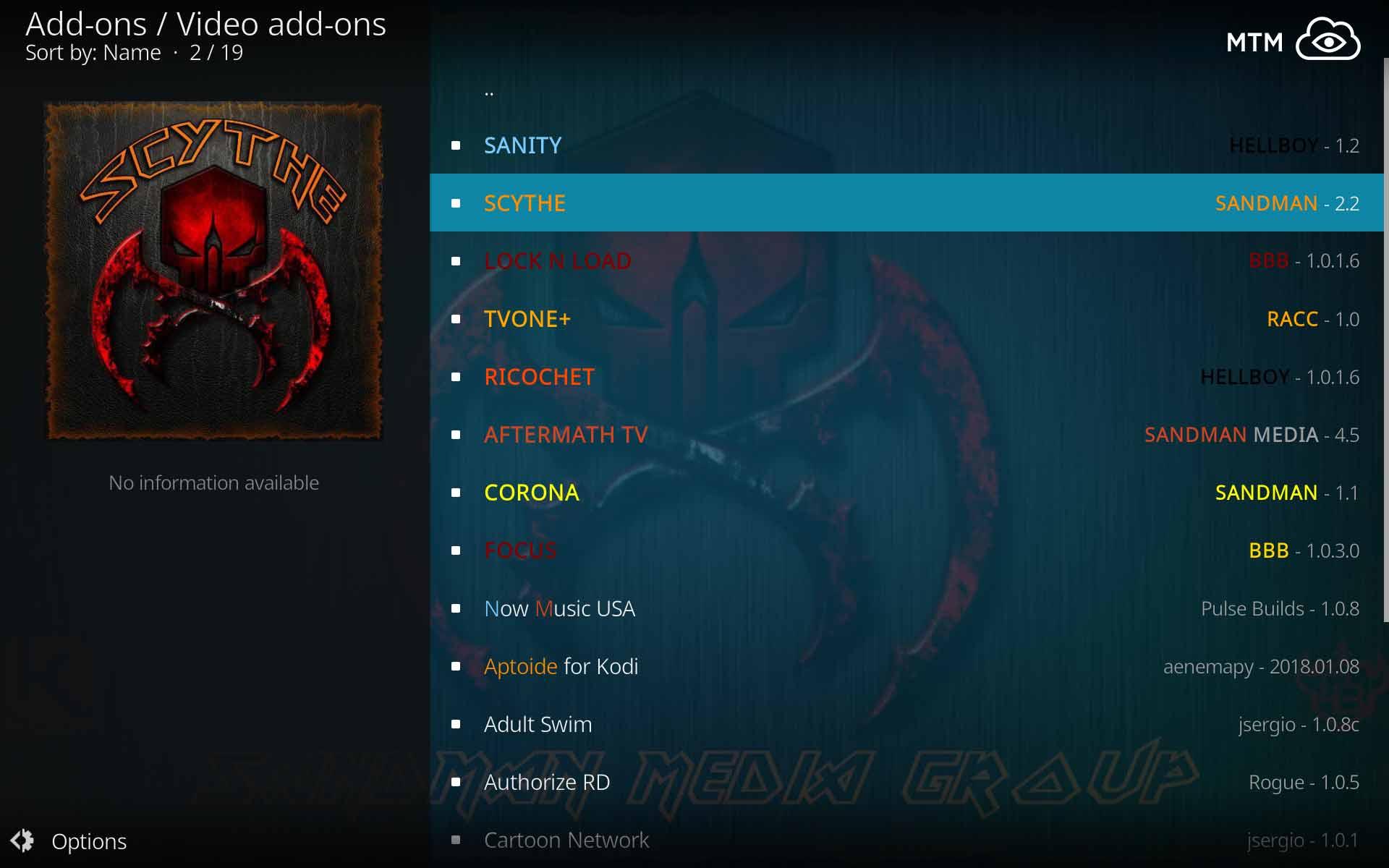 How to Install Scythe Kodi Addon from Sandman Media Repo