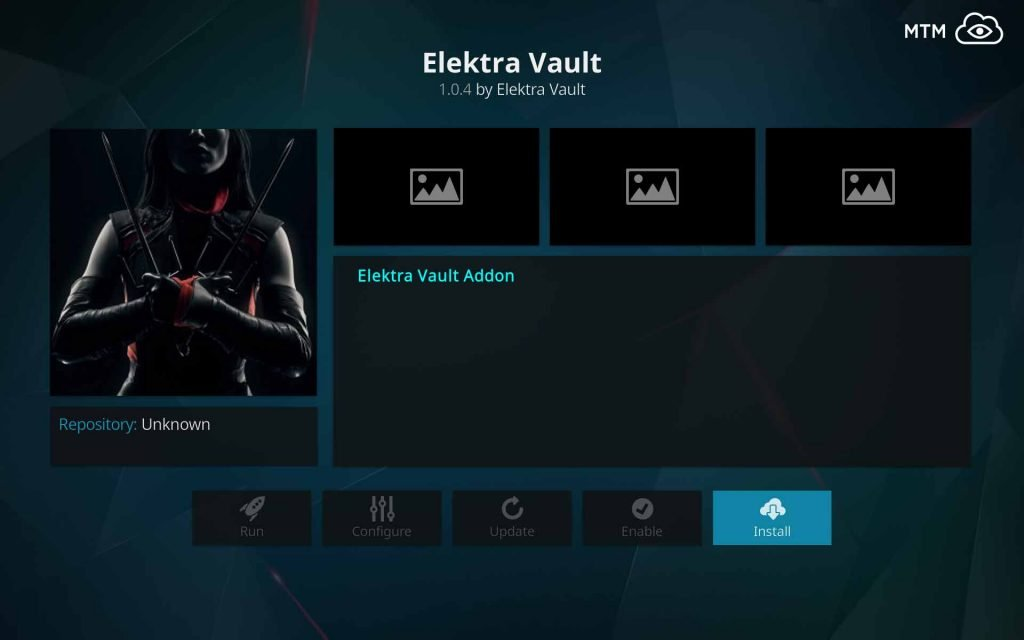 To Install Elektra Vault on Kodi, Punch that Install Button!