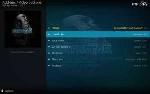 Choose Death Star to Install on Kodi from EzzerMacs Repo