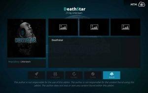 Click Install Button for Death Star Kodi Addon Installation
