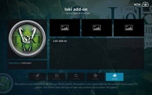 Click Install Button for Loki Add-on by Loki God of Mischief