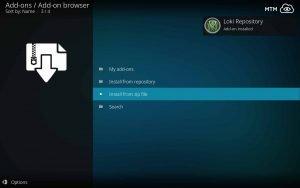 Loki Repository Add-on installed
