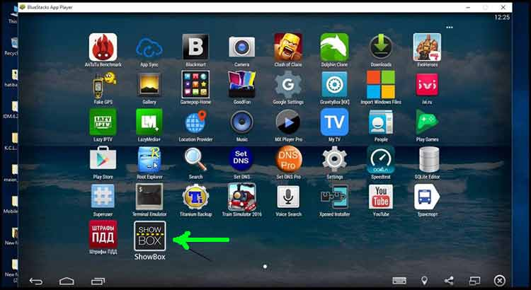 showbox on windows pc with bluestacks
