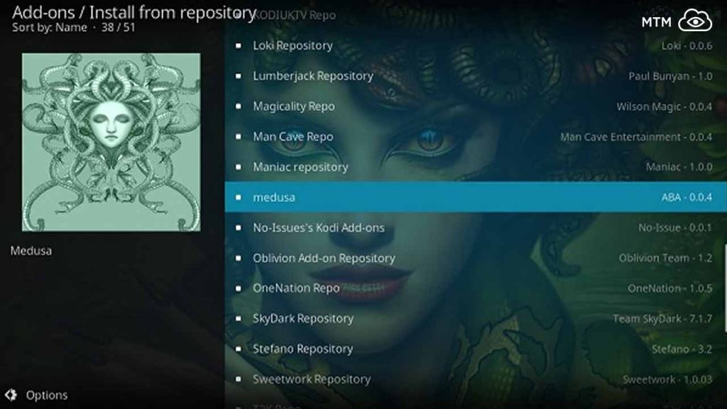 Click to Install Medusa Addon on Kodi