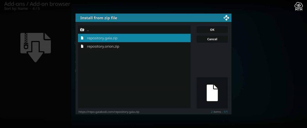gaia repo install from repository.gaia.zip file