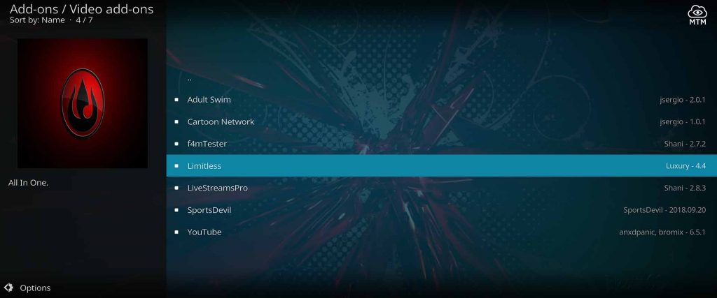 live tv addon for cable channels in kodi