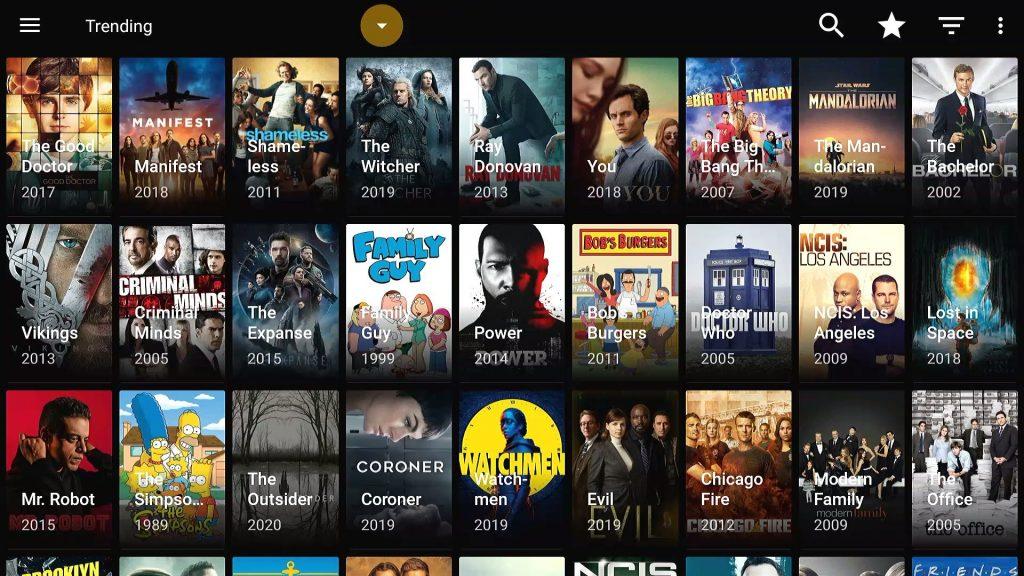 trending tv series in typhoon tv apk app on firestick