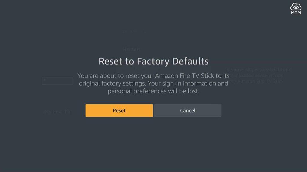 firestick default settings factory reset button