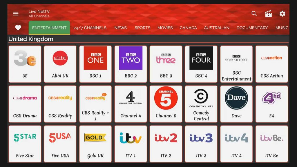 uk cable tv livenettv channel listing