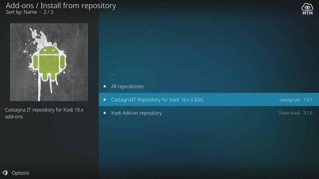 castagnait netflix repository for kodi 18 leia