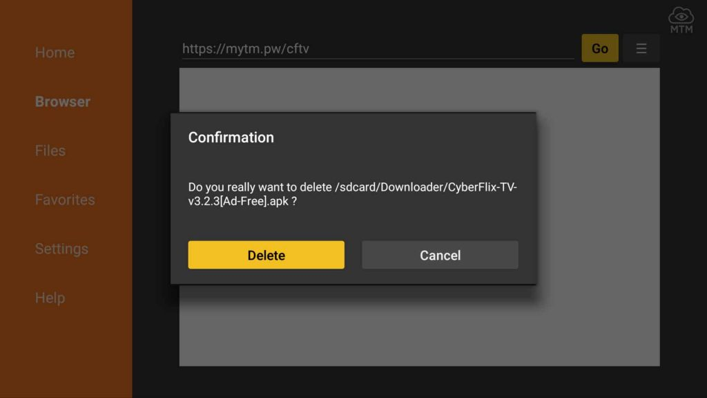 cyberflix apk download delete confirmation