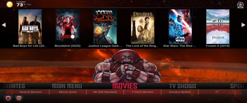 juggernaut build - one of the best kodi builds today