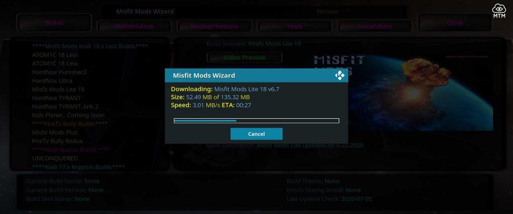 misfit mods lite kodi build download