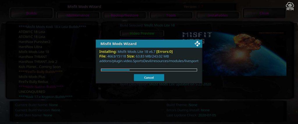 misfit mods lite 18 build install