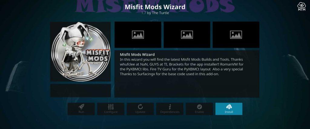 install misfit mods wizard