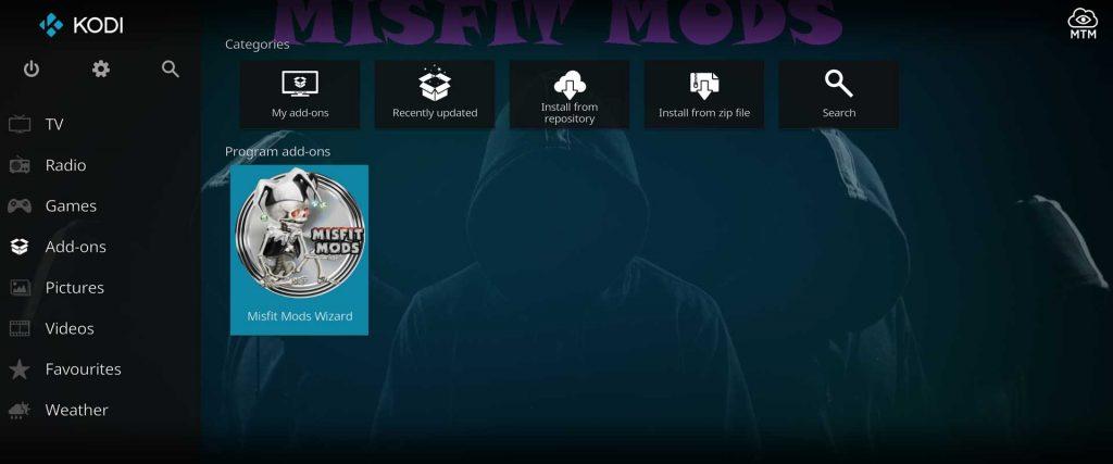misfit mods builds kodi