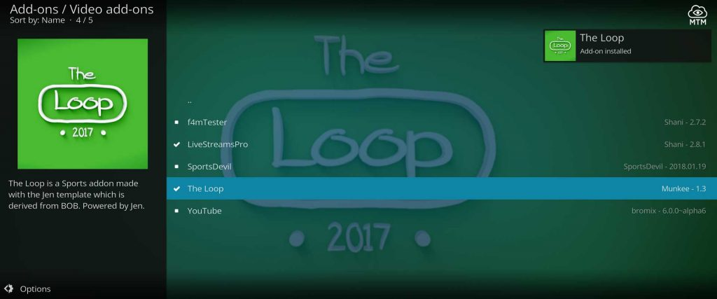 watch live and vod sports streams with the loop