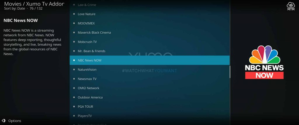 Crew Repo Xumo Movies & TV Kodi Addon Channels
