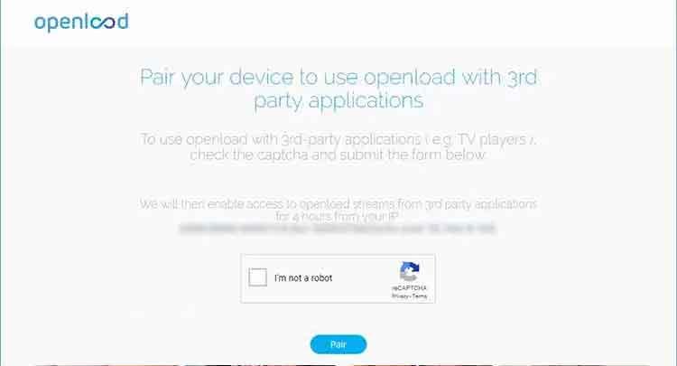 olpair kodi openload pair streaming video captcha hoster site